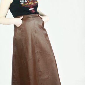 David Benjamin Leather Skirt - Medium